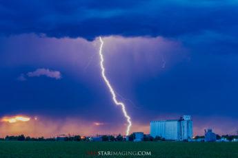 Coming in Hot - A lightning strike in Western Kansas